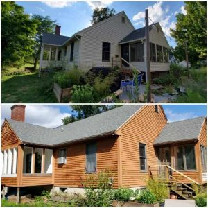 Exterior house painting by Lighthouse Painting – Before & After