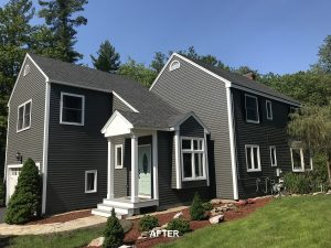 Exterior painting in North Andover after