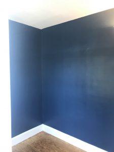 Interior blue wall