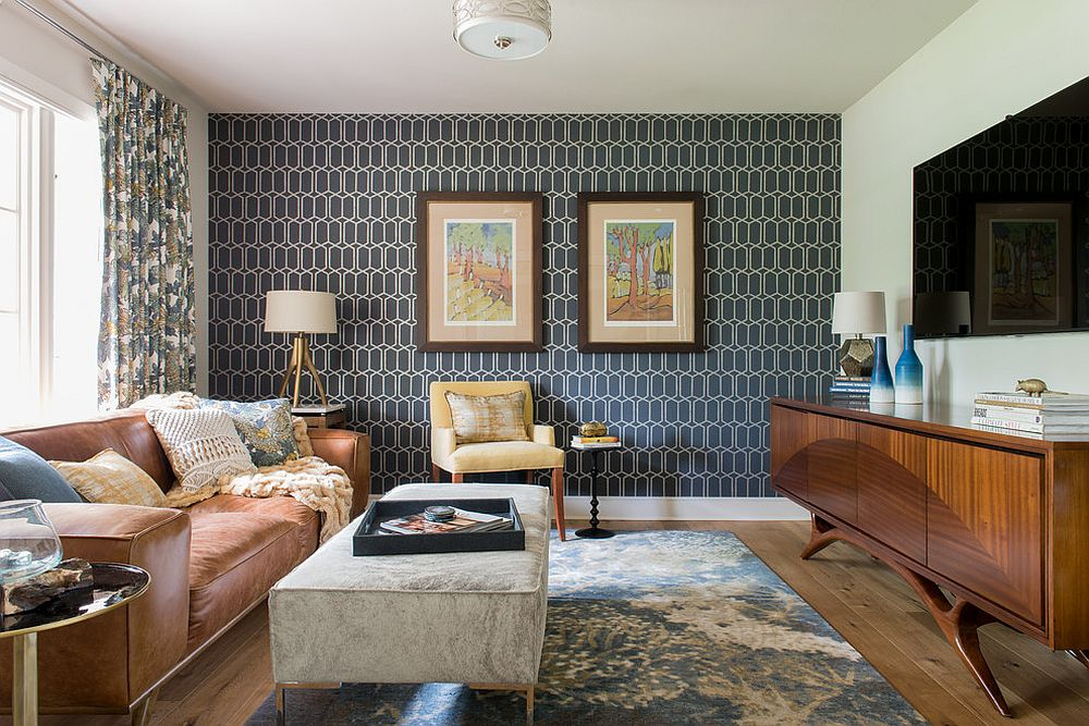 Bringing Wallpaper Back Retro Wall Treatment Turns Modern