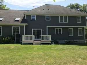Exterior house painting by Lighthouse Painting – Rear of Home